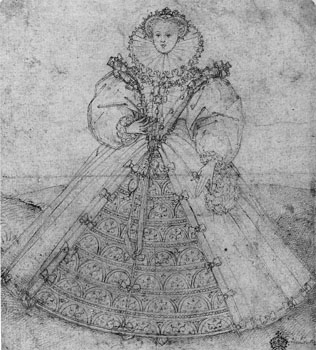 Queen Elizabeth I drawing 1588