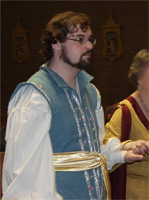 Morgan wearing the doublet at the reception
